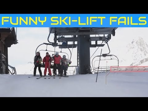 Best of Funny Ski Lift Fails 🎿 Lustige Skilift Abstiege 😃 People vs Lift