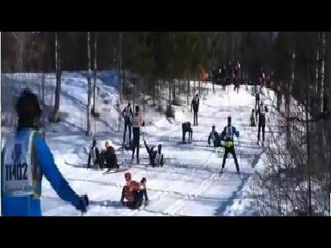 "Cross Country Ski Competition Fail - Skiing Race Carnage On Tricky Turn ""Pile Up"""