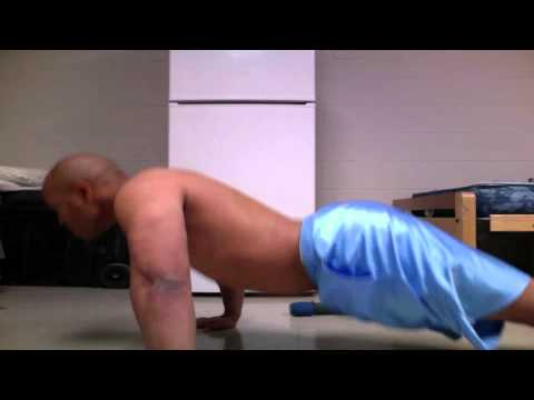Doing pushups until muscle failure
