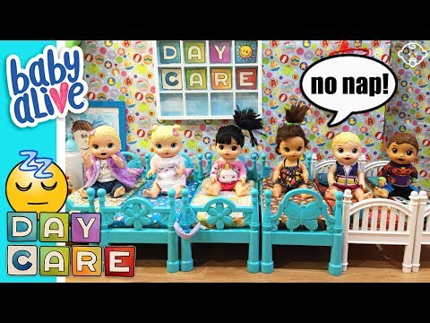 👶Baby Alive Daycare! NAPTIME FAIL! 💤 Babies WON'T GO TO SLEEP! Kitty gets a time-out too!