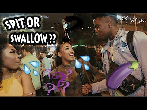 ASKING HOT GIRLS SPIT OR SWALLOW?? COLLEGE EDITION : DRUNK GIRLS EDITION