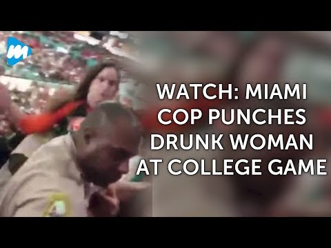 Watch: Miami Cop Punches Drunk Woman At College Game | Latest News Updates | Viral Mojo