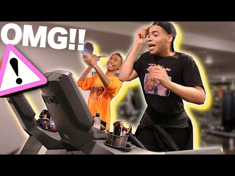 Doing Our Makeup ON A TREADMILL!! (EPIC FAIL)