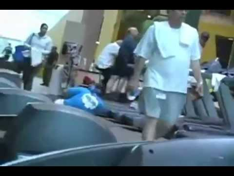 Treadmill fail at the gym