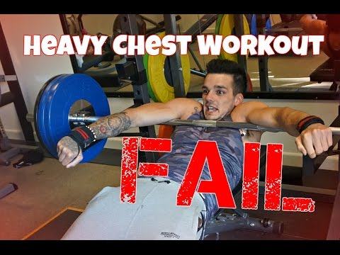 Lean Bulk : Strength Training Chest Workout... FAIL!!! | Day In The Life