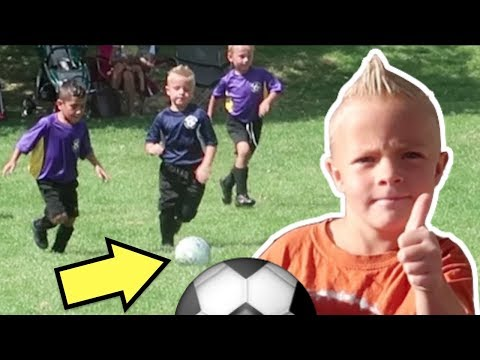 ⚽️HILARIOUS Little Kids Soccer Game with FAIL NINJA!