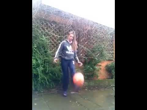 Soccer Ball Freestyle Juggling Girl Fail
