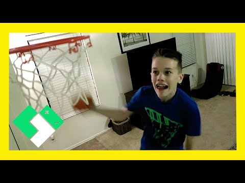 INDOOR BASKETBALL DUNK FAIL (Day 1766) | Clintus.tv