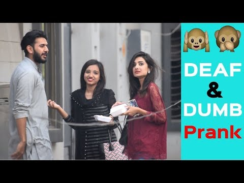 Acting Deaf and Dumb Prank in Pakistan | Funny prank | Haris Awan
